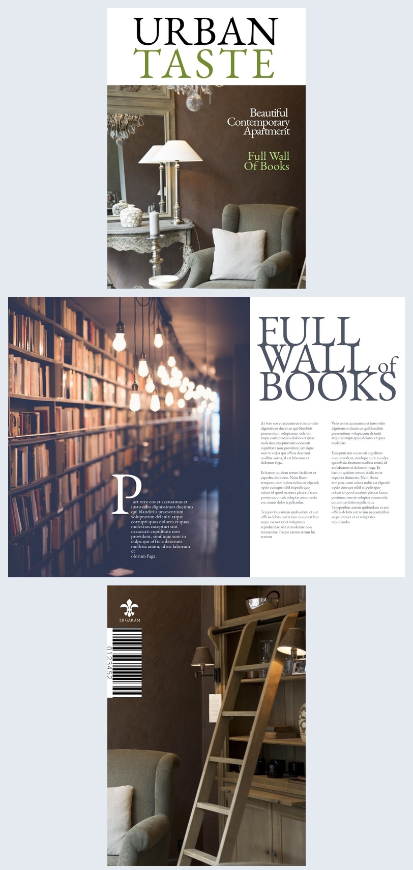 Interieurontwerp Magazine Sjabloon Lay-out