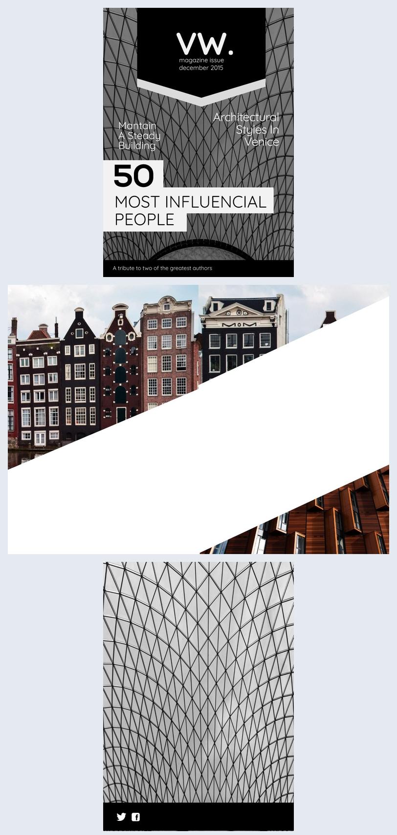Black & White Magazine Cover Design