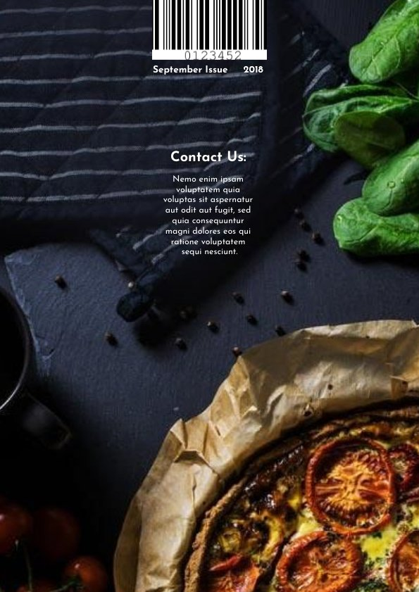 Cooking Magazine Cover Design