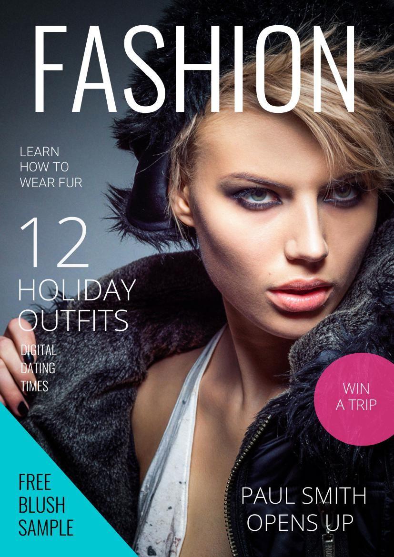 modelos e design de capa de revista de moda