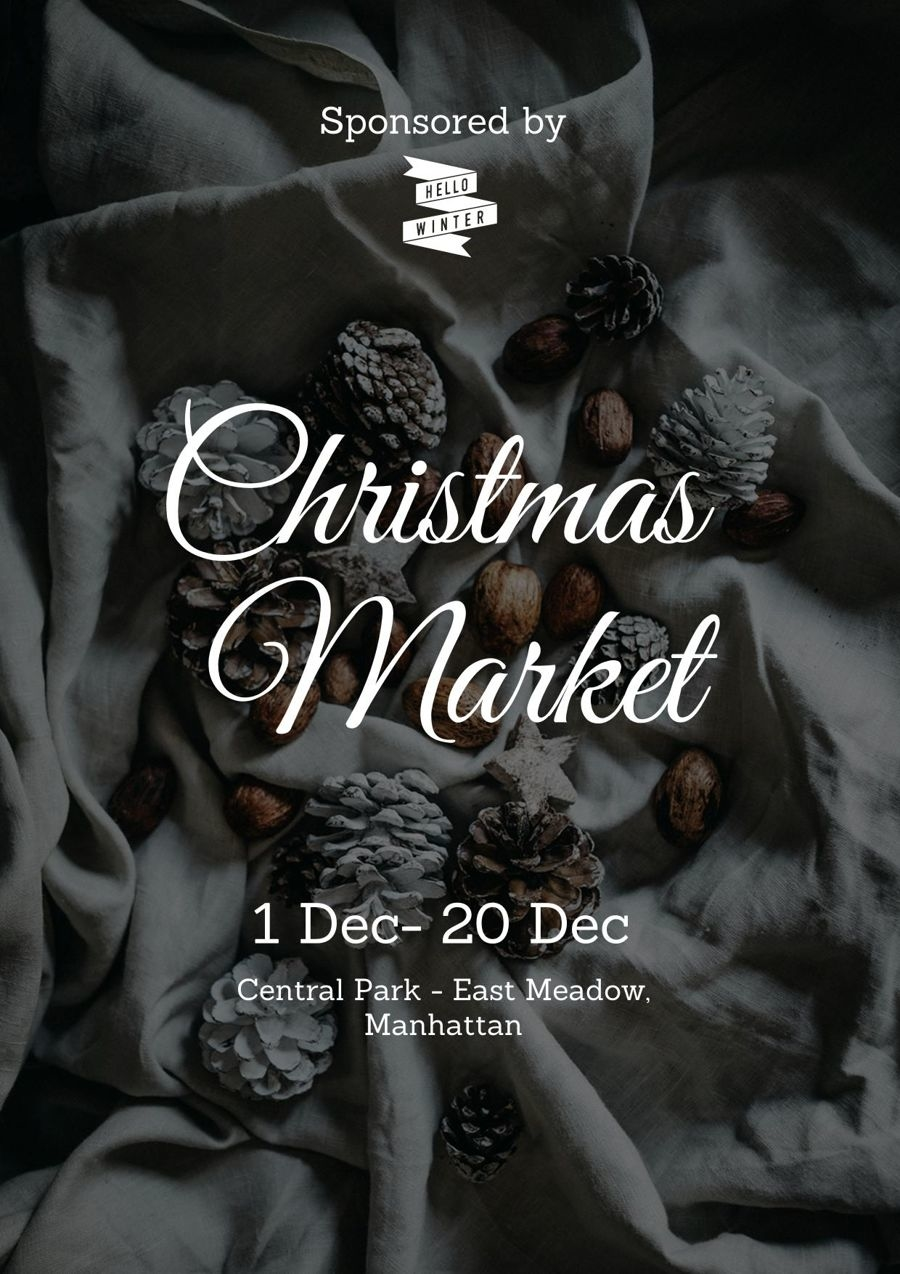 Kerst evenement flyer ontwerp