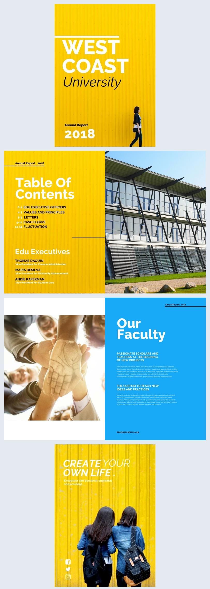 Design di opuscolo per università