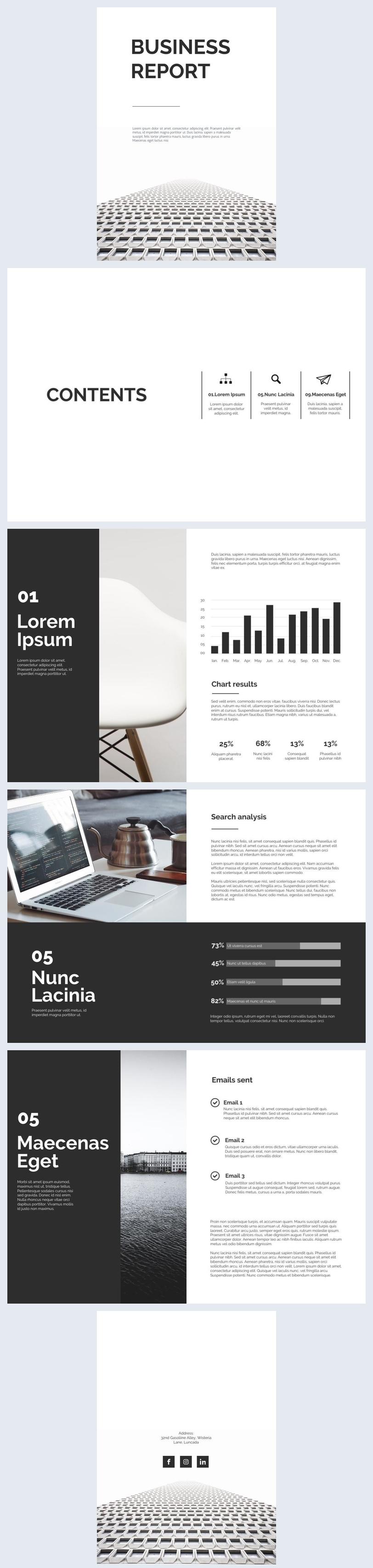 Black & White Business Report Design
