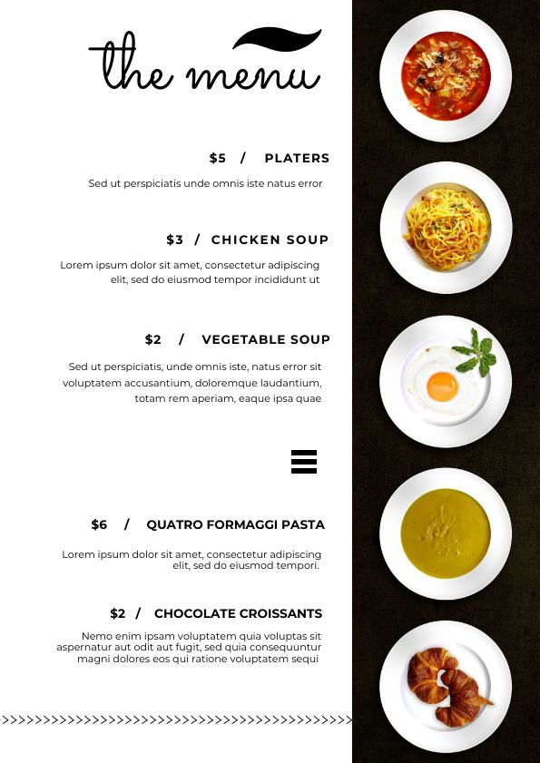 Plantilla y diseño para menú de banquetes - Flipsnack