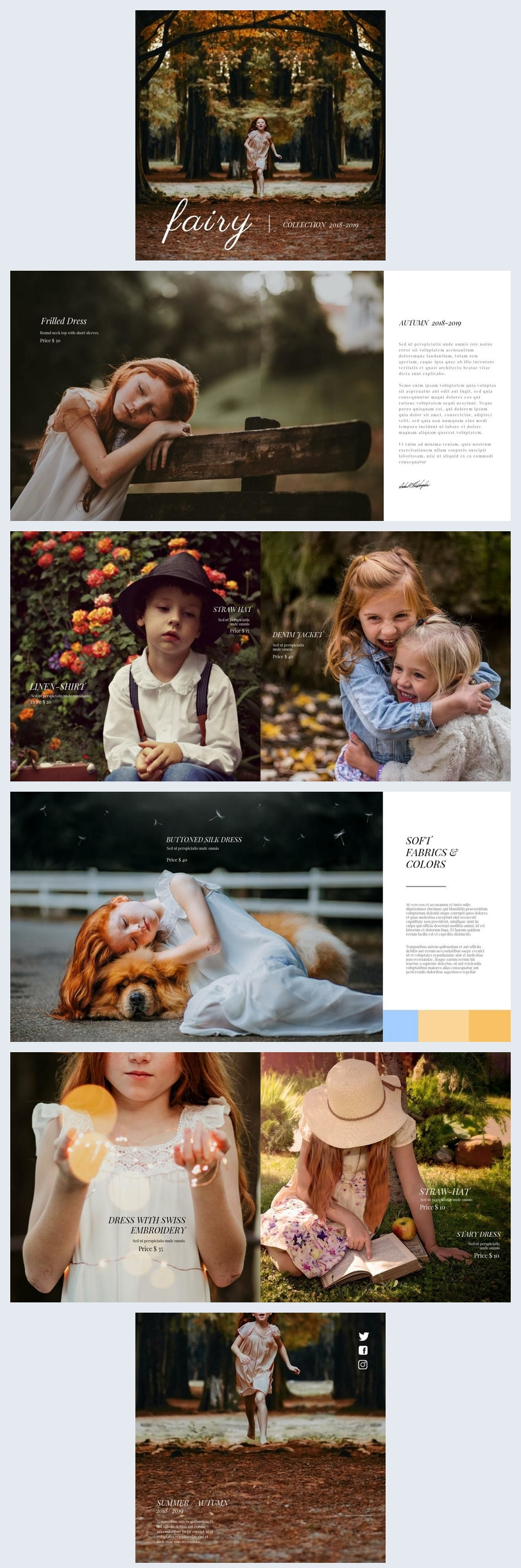 Design de Catálogo de Moda Infantil