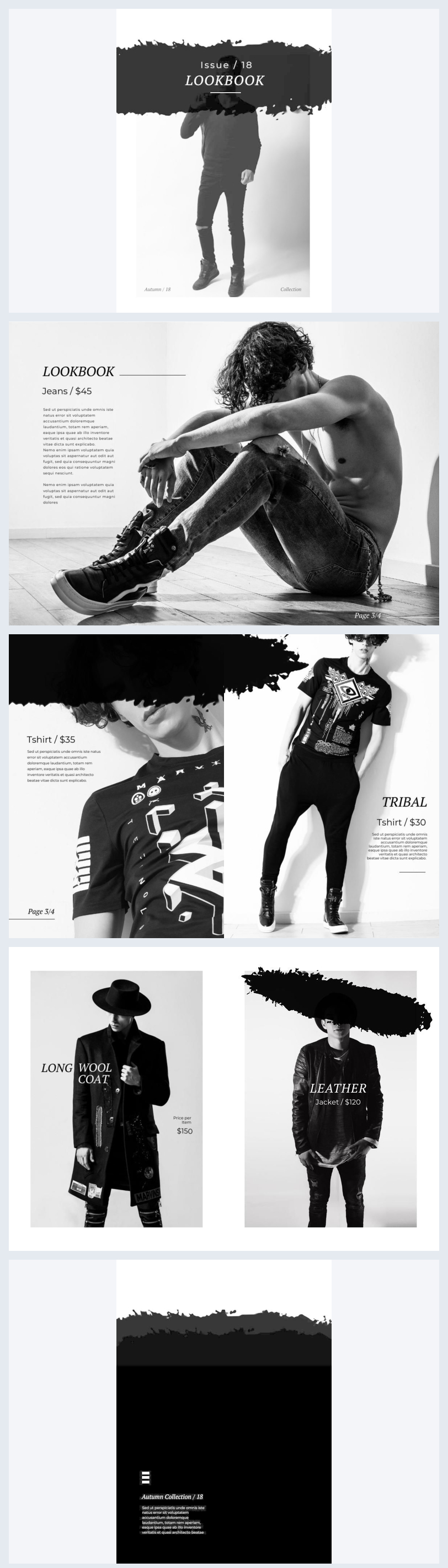 Edgy Fashion Catalog Brochure Design