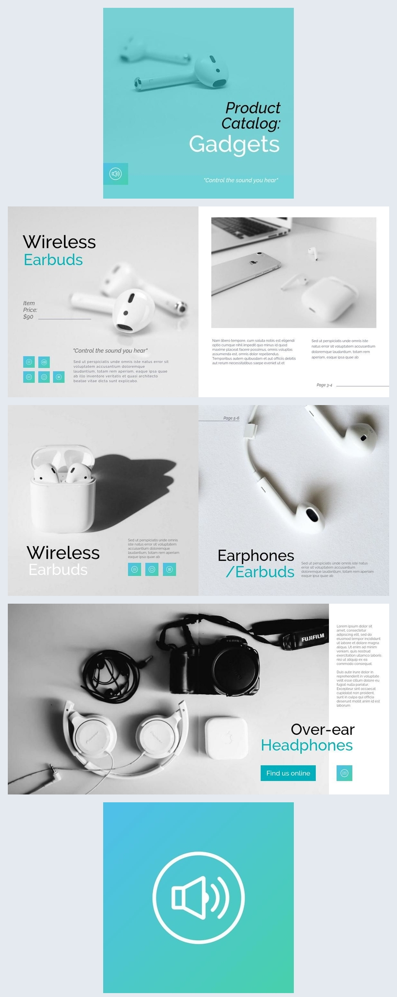 Elektronik- & Technik-Gadgets Katalog-Design