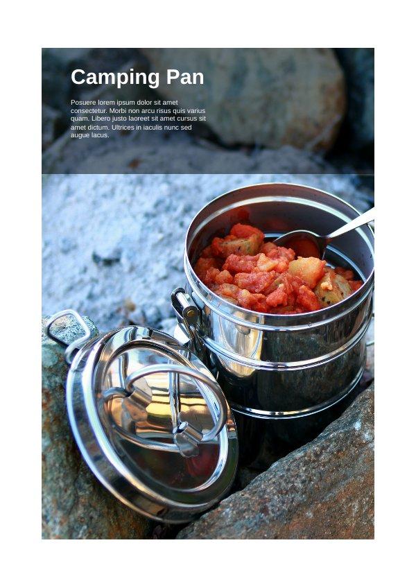 Camping Gear Catalog Brochure Design