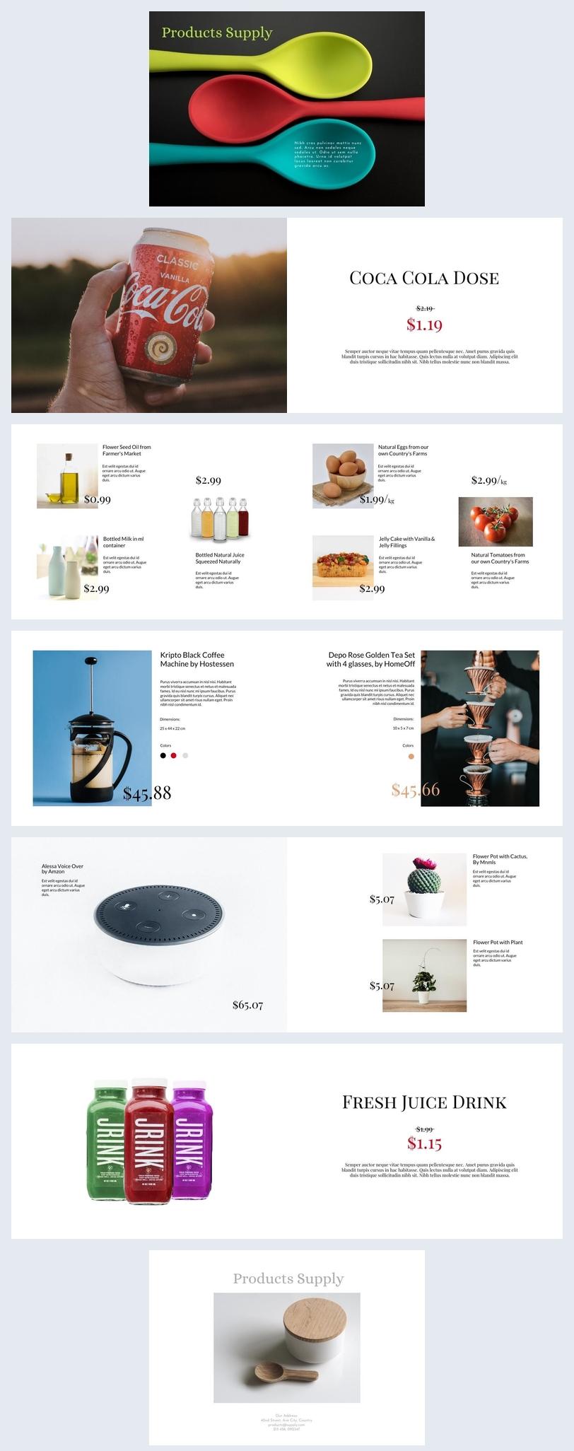 Conception simple de catalogue de produits