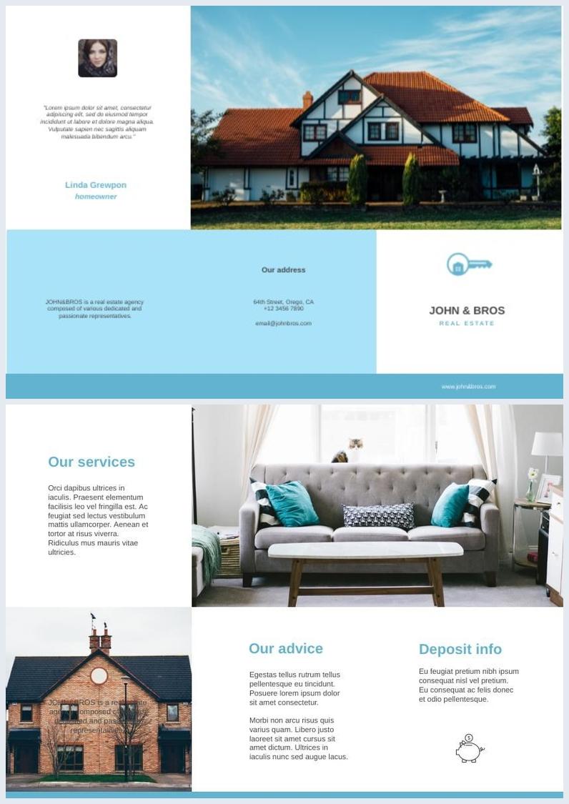 Design de Folheto de Casa Aberta - Imobiliário