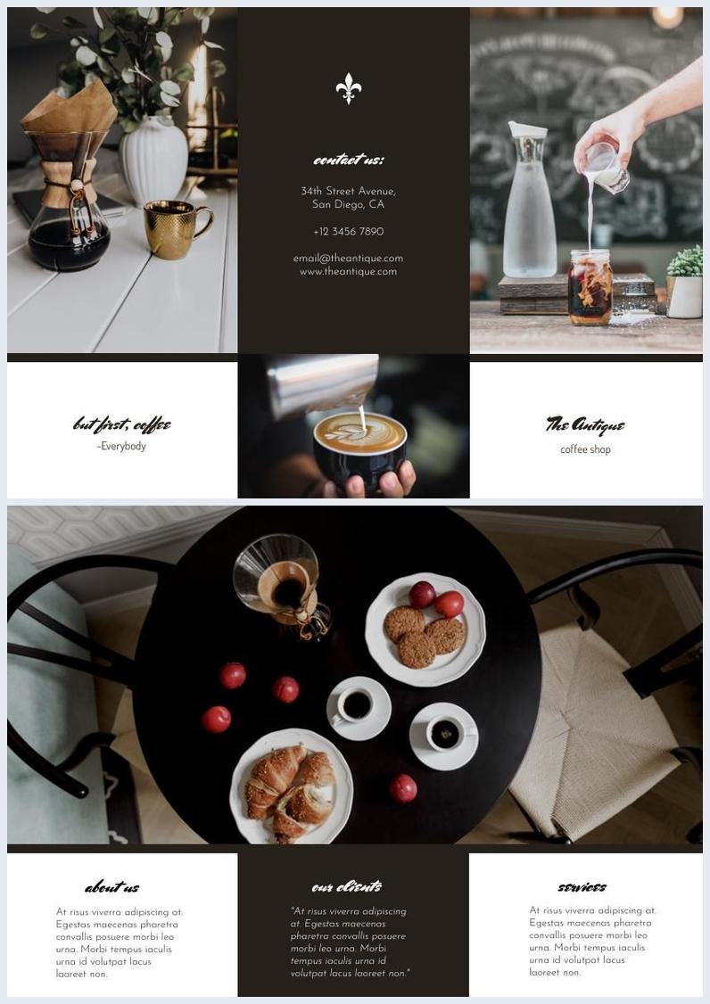 Design de Folheto de Café Moderno
