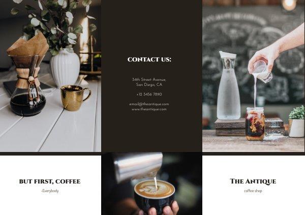 modern coffee shop flyer template