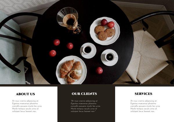 Modern Coffee Shop Flyer Design