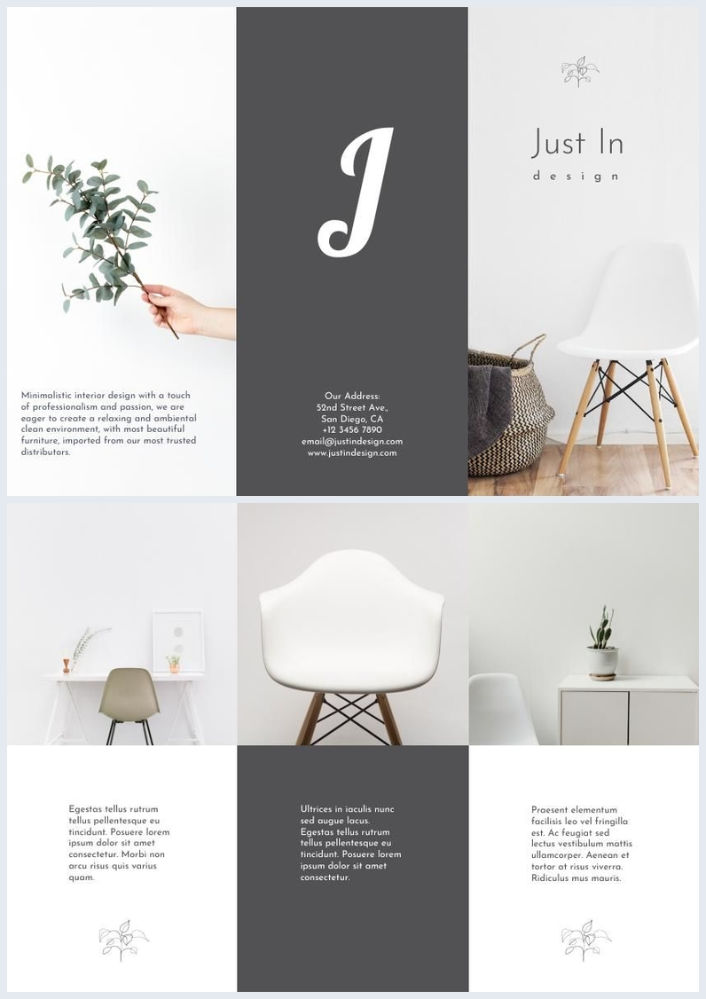 Minimalistic Interior Design Flyer Example