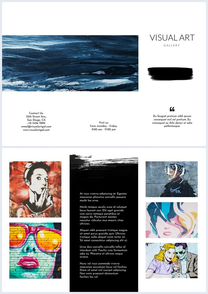 Design de Folheto / Brochura de Galeria de Arte