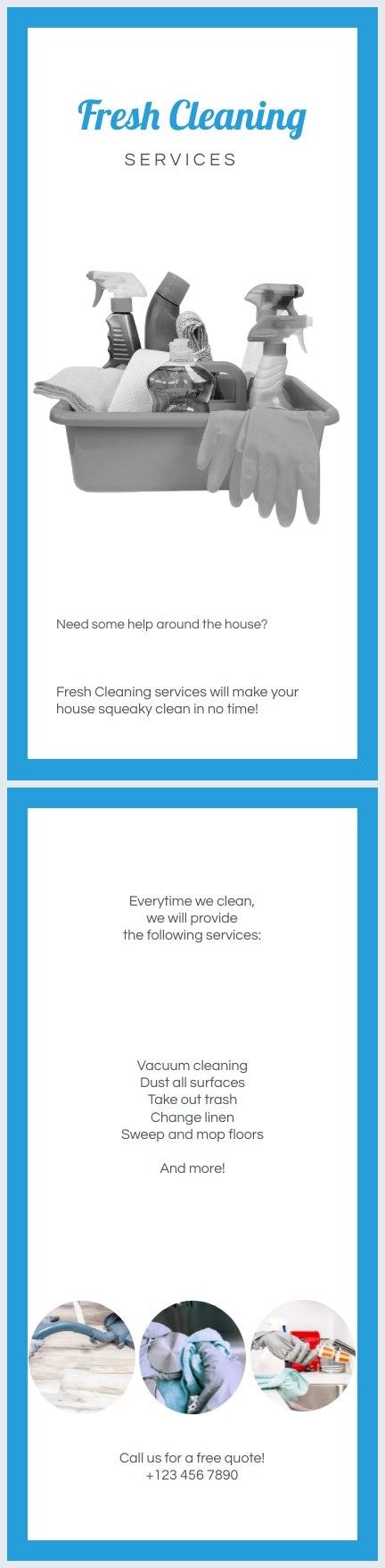 mod u00e8le et design de flyer pour services de nettoyage