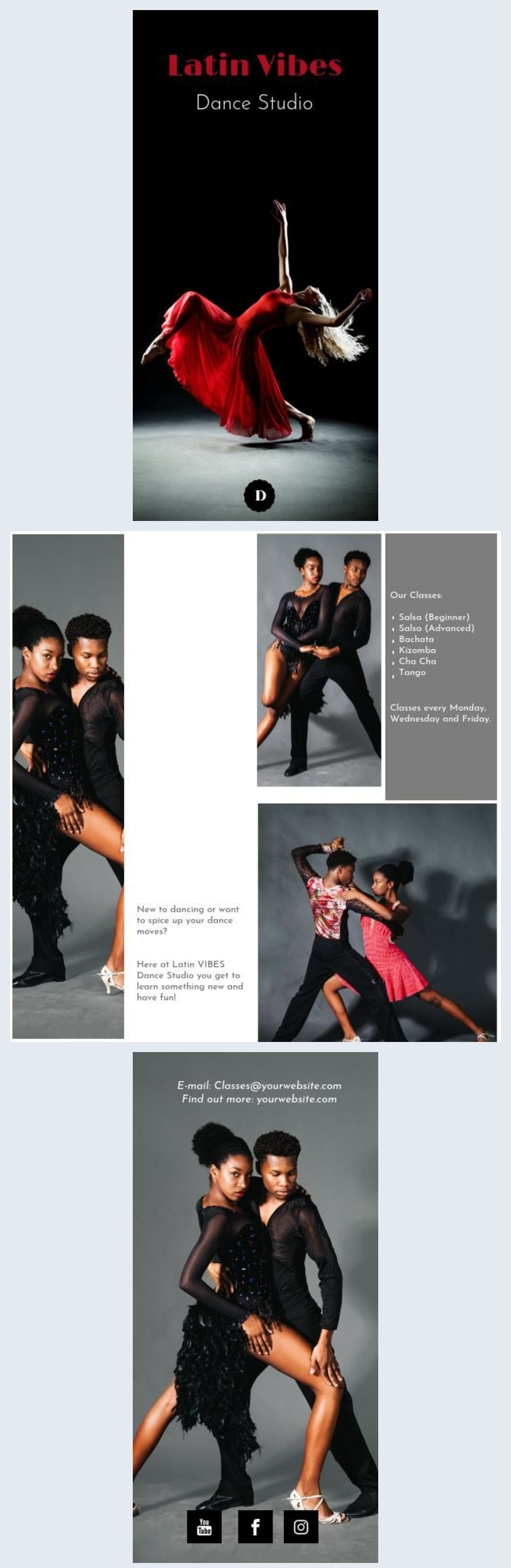 Dance Studio Bifold Brochure / Flyer Design