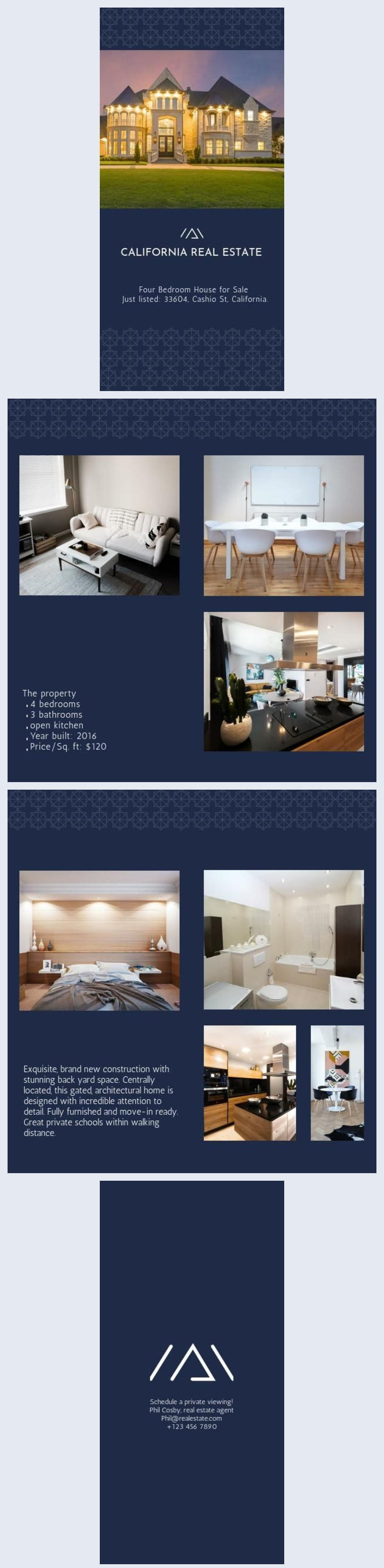 House for Sale - Real Estate Brochure Example