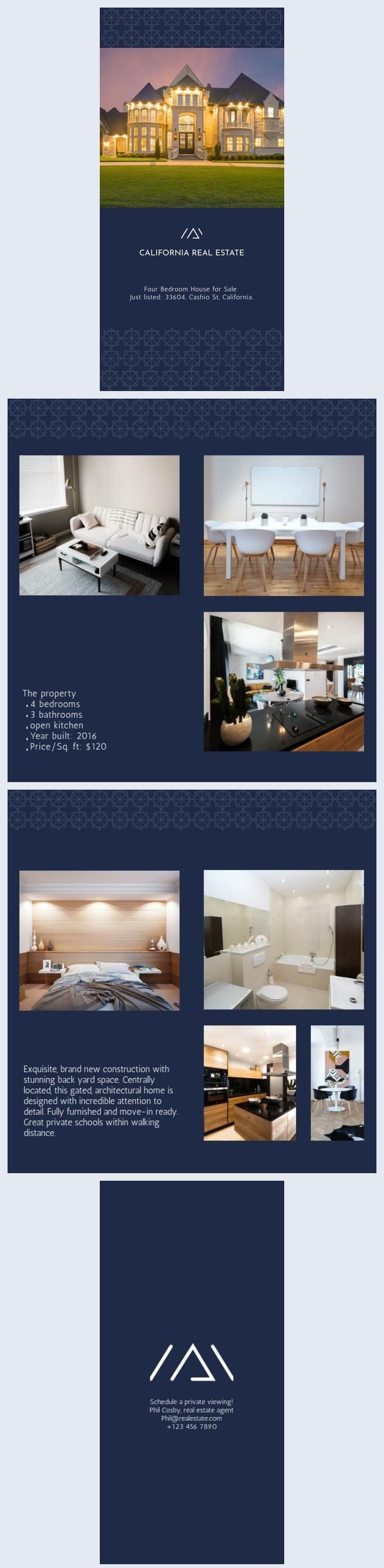 Exemplo de Brochura de Imobiliária - Casa à Venda