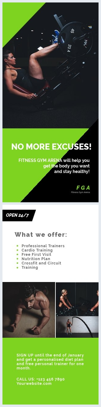 Design de flyer moderne fitness