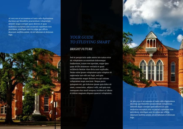 Modern College Tri Fold Brochure Example