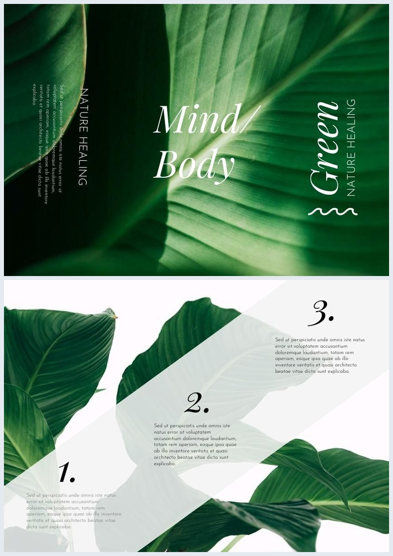 Green Leaves Trifold Example