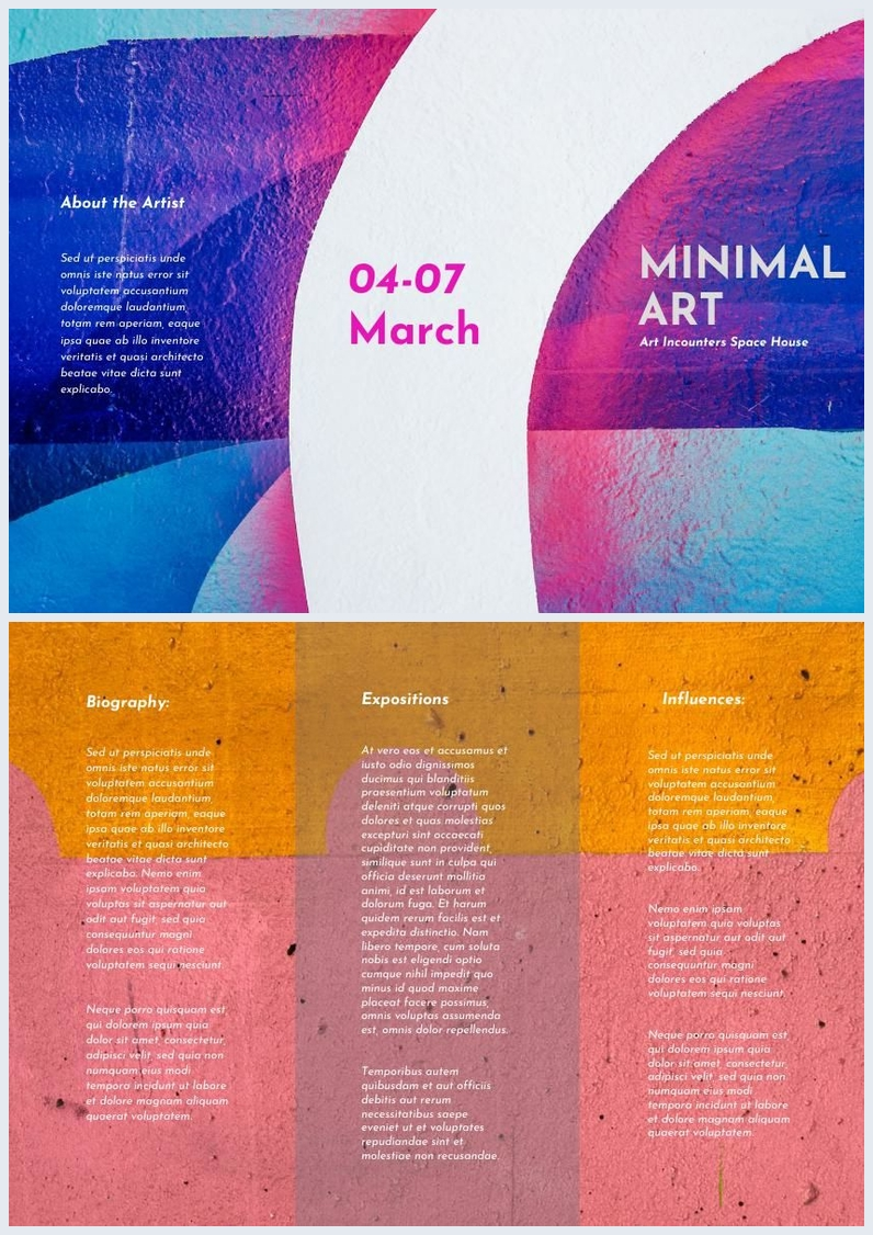 Colorful Abstract Trifold Brochure Design