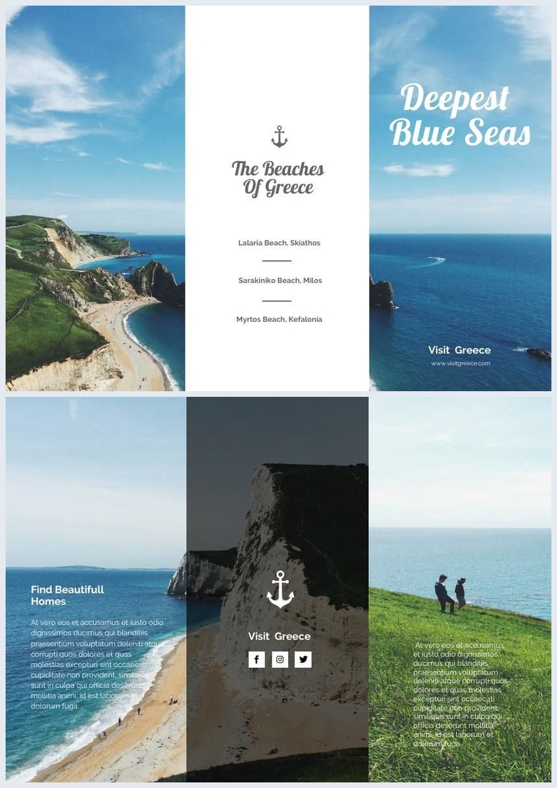 Beach Travel Trifold Brochure Example