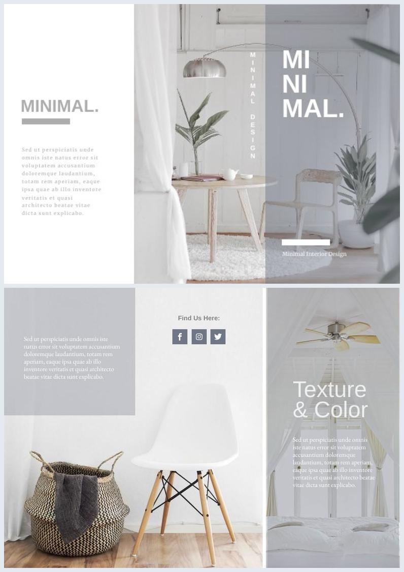 Minimalist Trifold Brochure Design