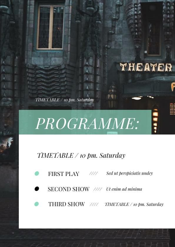 Theatre Program Example
