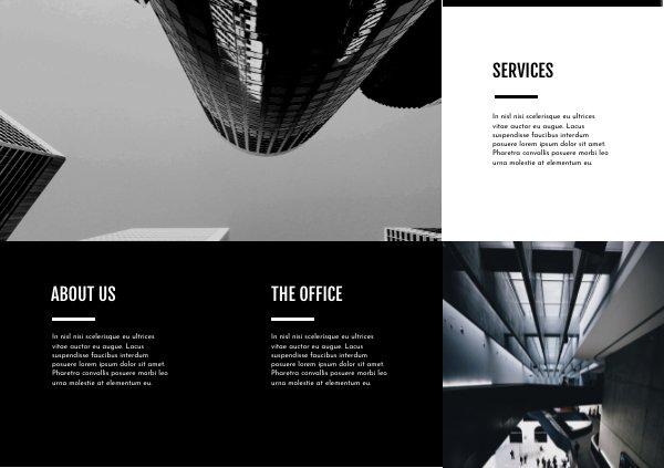 Black White Trifold Business Brochure Template Flipsnack