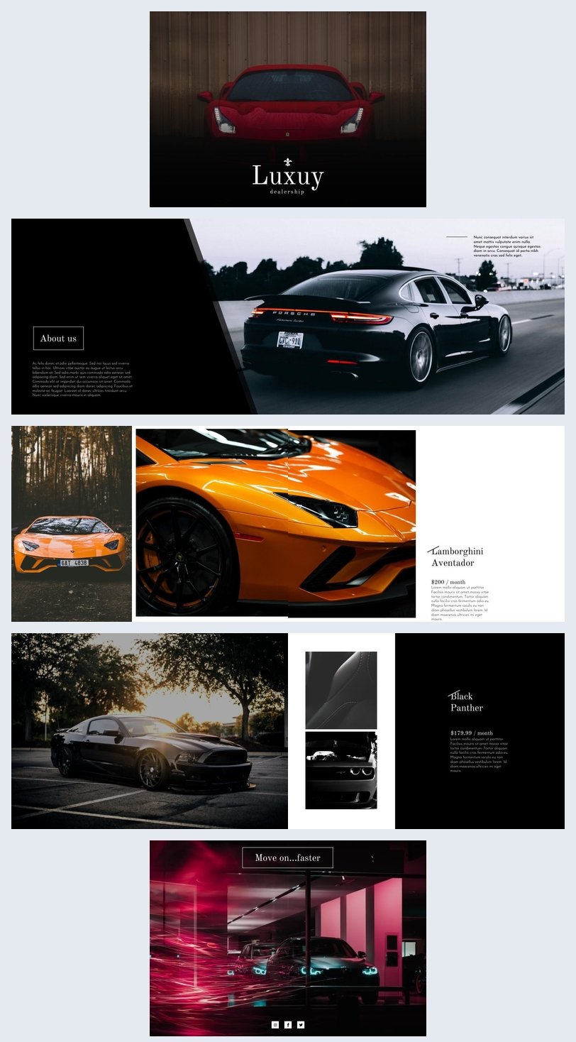 luxury car brochure template  u0026 design