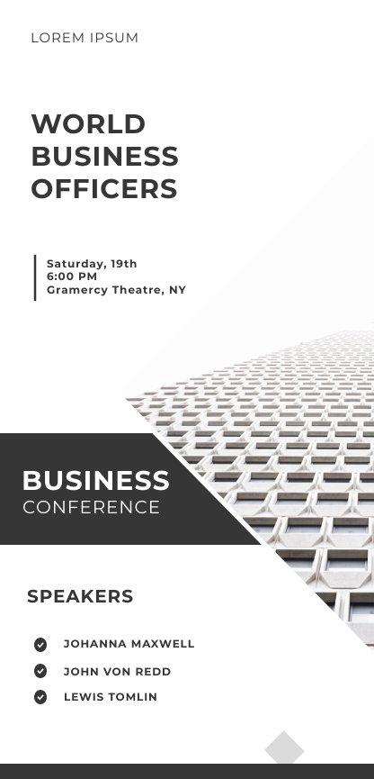 Black & White Conference Flyer Design