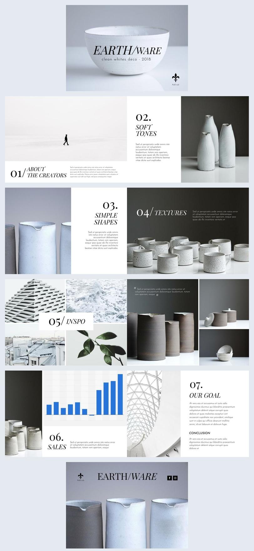Modello moderno per opuscolo di presentazione dei prodotti
