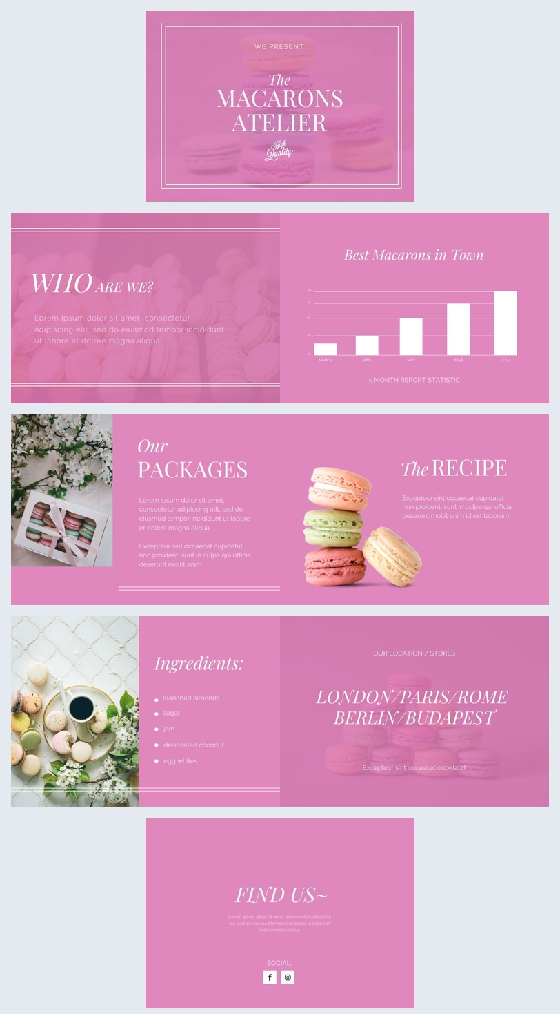 Pink Product Presentation Brochure