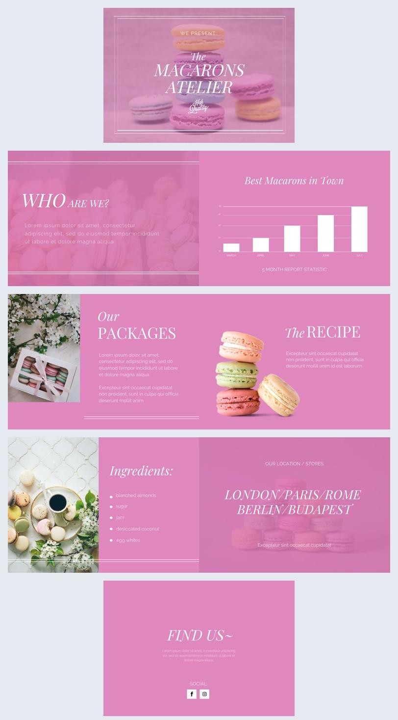 Opuscolo rosa di presentazione dei prodotti
