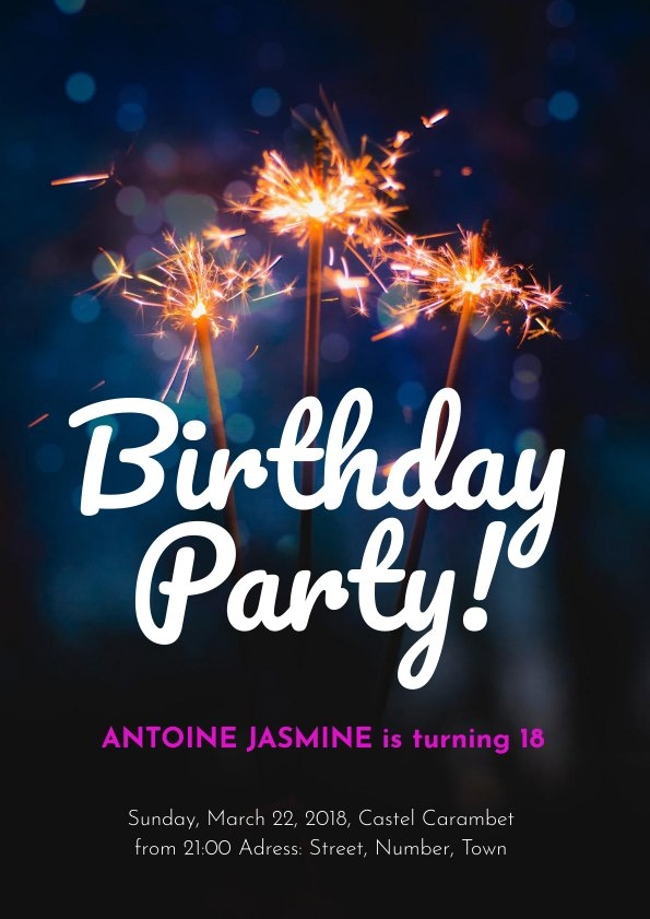 Einladungskarte Vorlagen-Design Zur Geburtstagsfeier