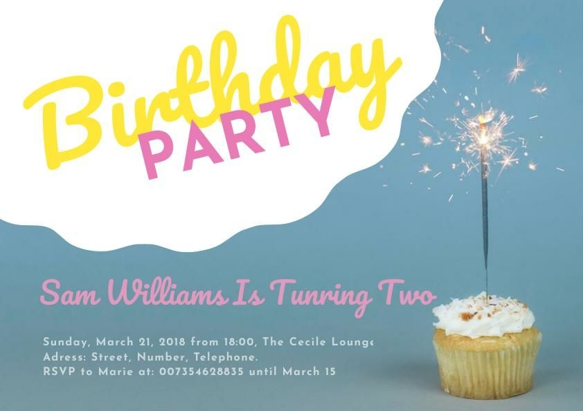 Fun Birthday Party Flyer Template