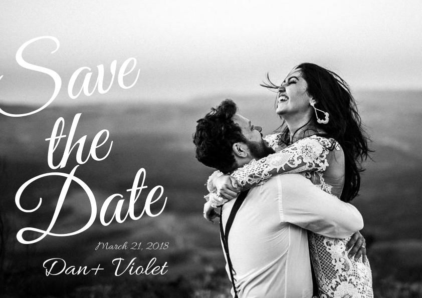 Black and White Save The Date Flyer