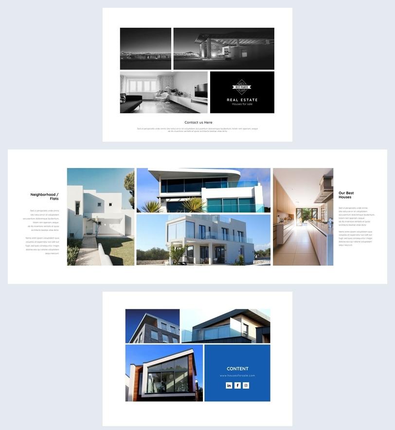 klare  u0026 moderne vorlage immobilien-brosch u00fcre