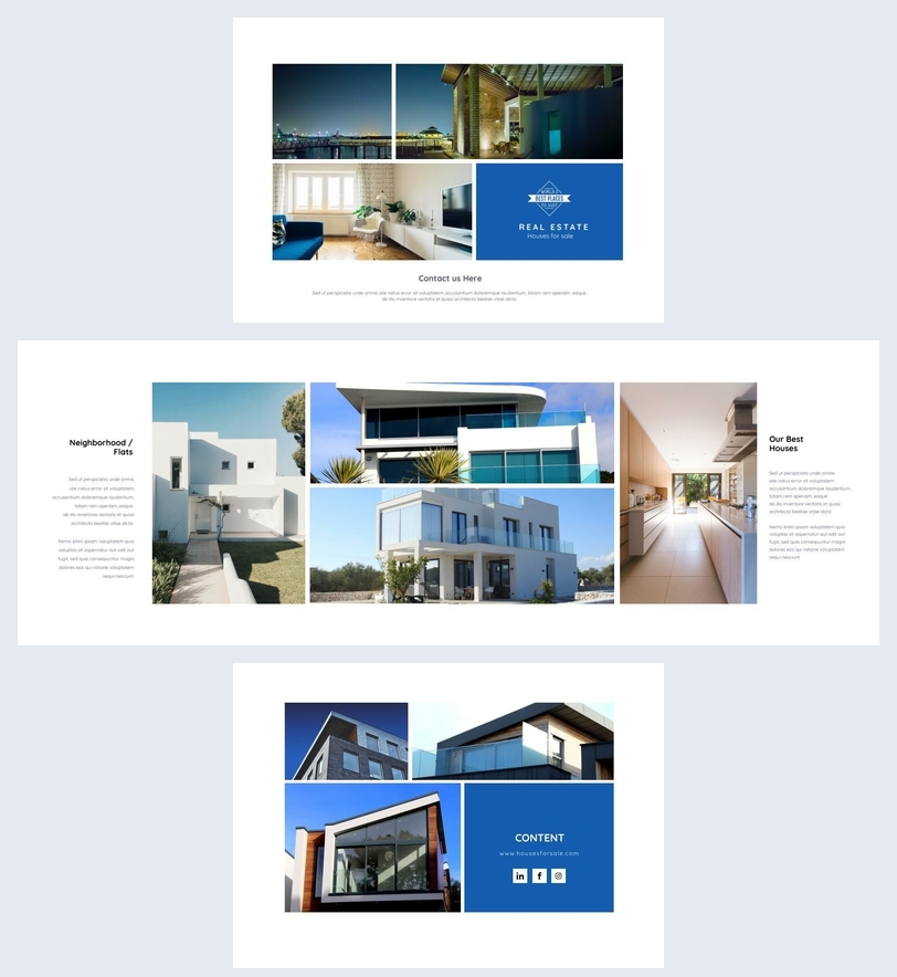 Clean & Modern Real Estate Brochure Template