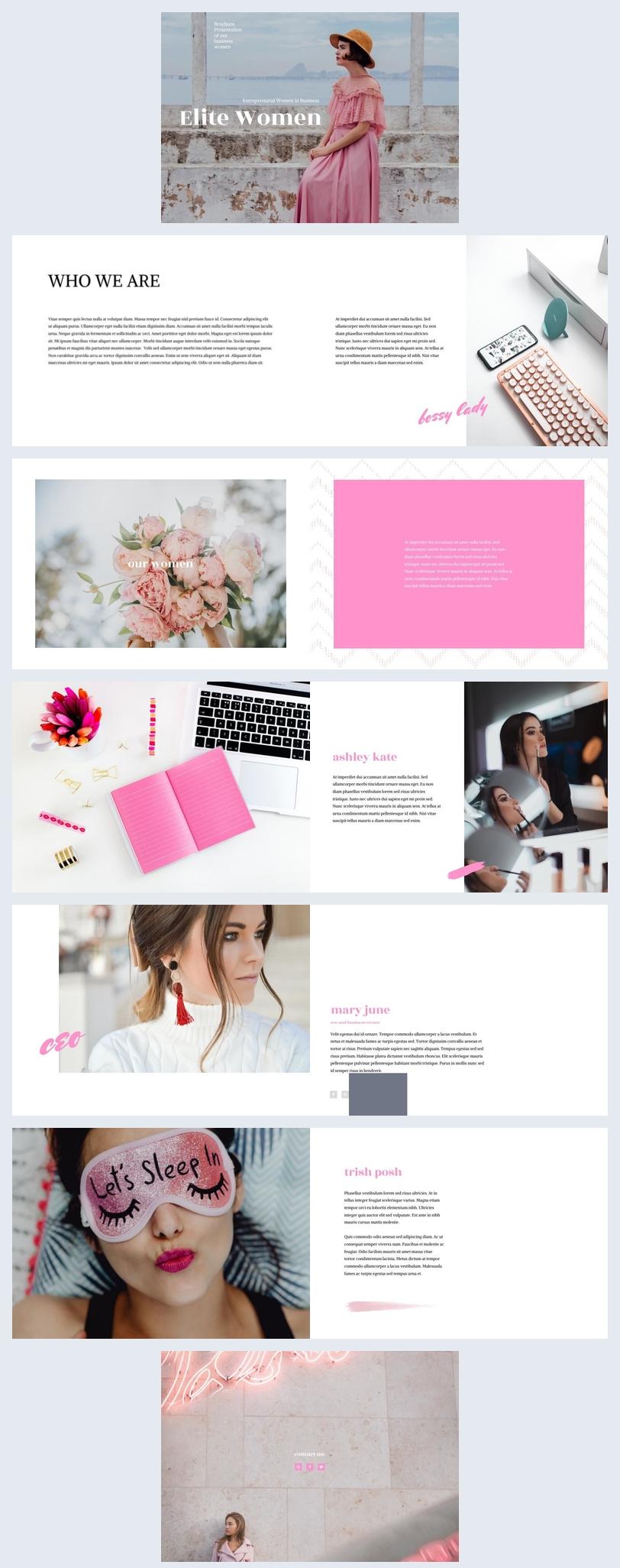 Unternehmerinnenvorlage/ Unternehmens-Broschüren-Vorlage