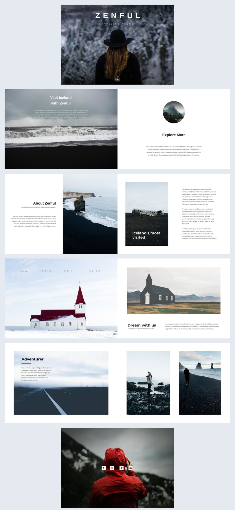 Modern & Minimalist Travel Brochure Template