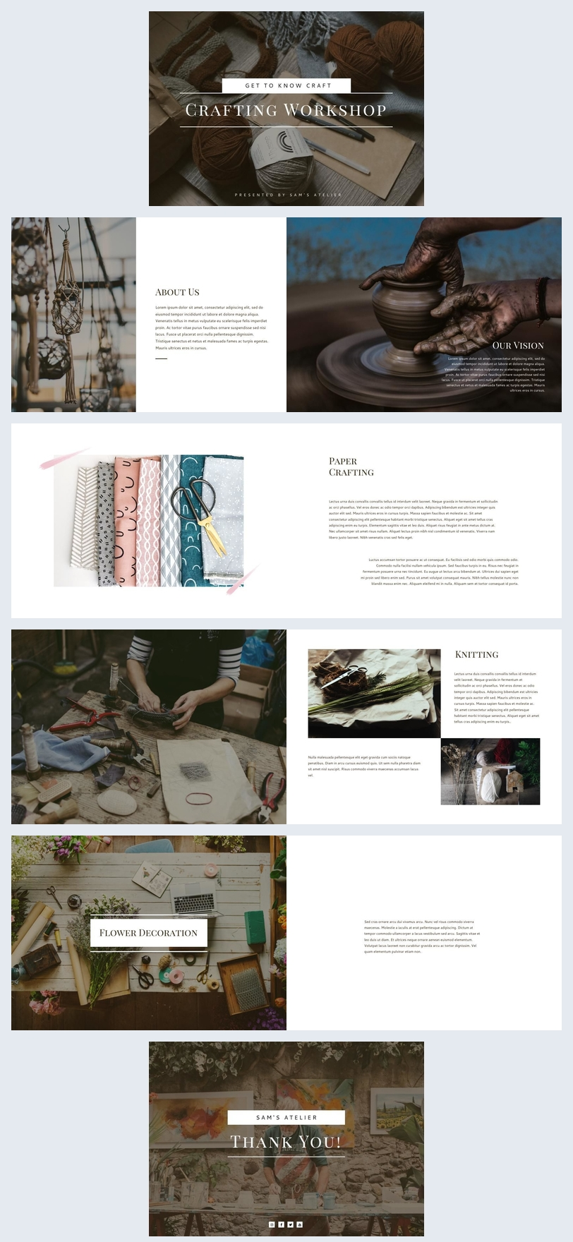 Workshop Presentation Brochure Template