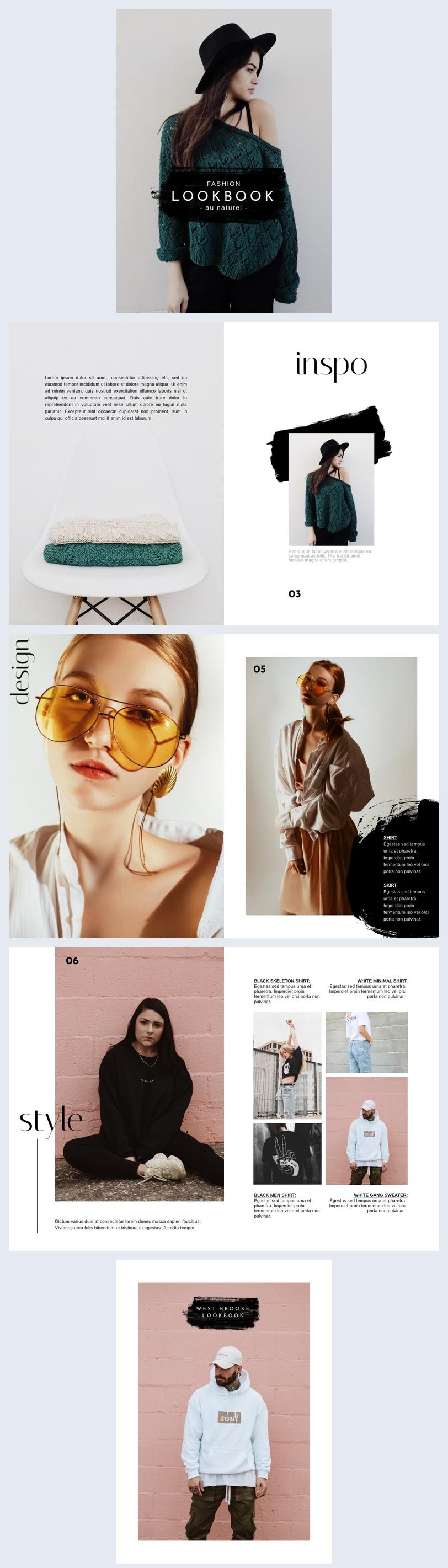 Vorlage Für Ein Kostenloses Lookbook & Modeportfolio