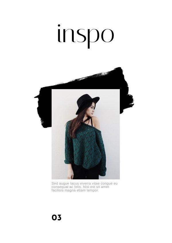 free lookbook fashion portfolio template flipsnack