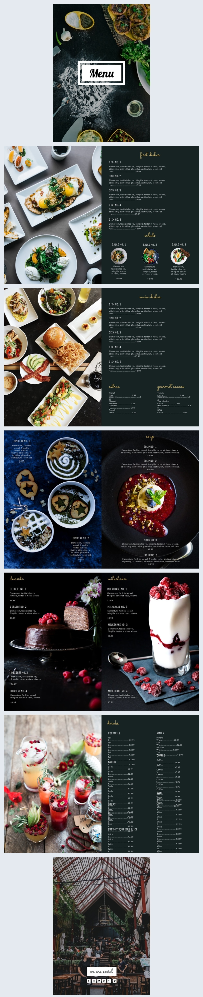 Creative Restaurant Menu Design