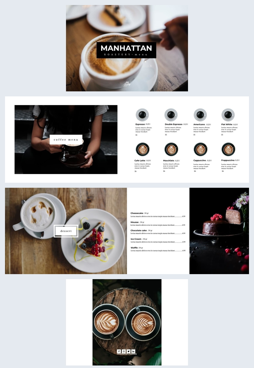 Hip Gastro Pub Menu Design