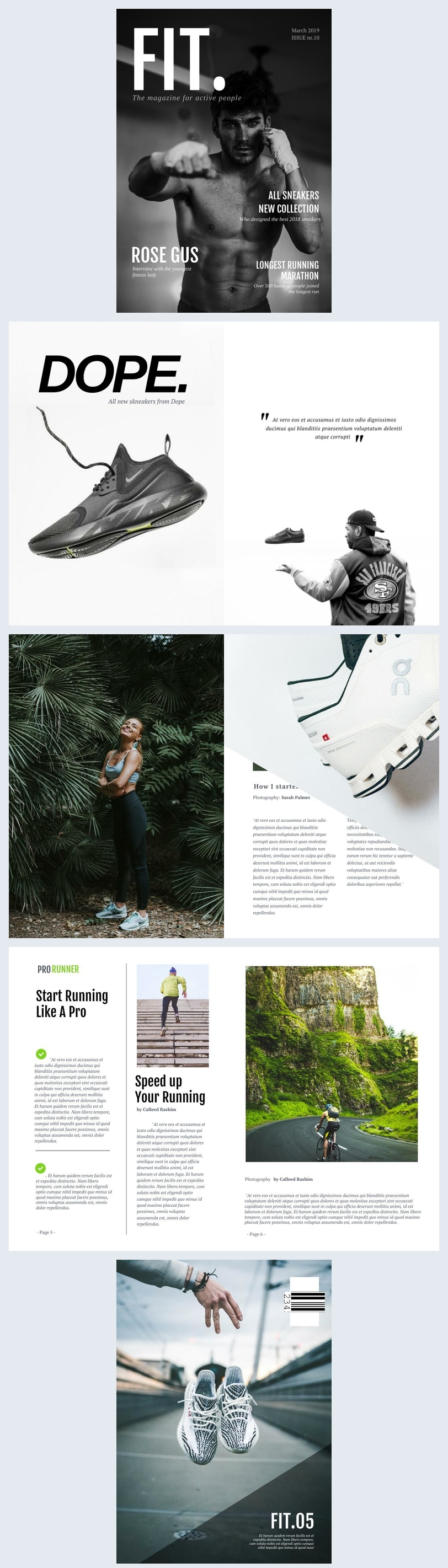 Sports Clothing Catalog Template