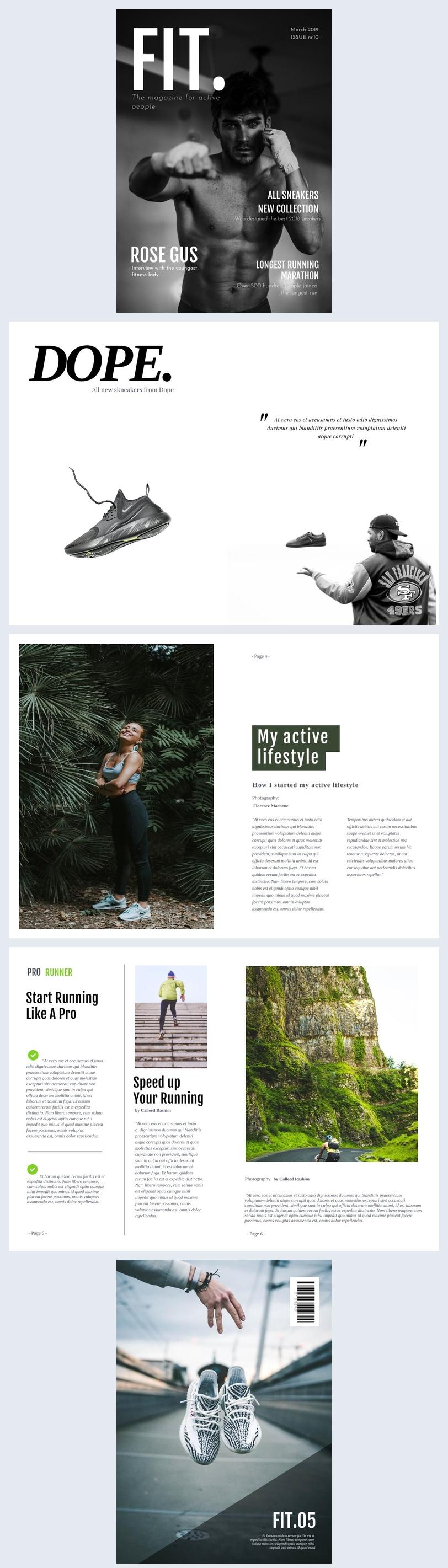 Katalogvorlage Sportbekleidung